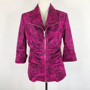 Joseph Ribkoff Jacket Pink Black Snake Print Sz 12